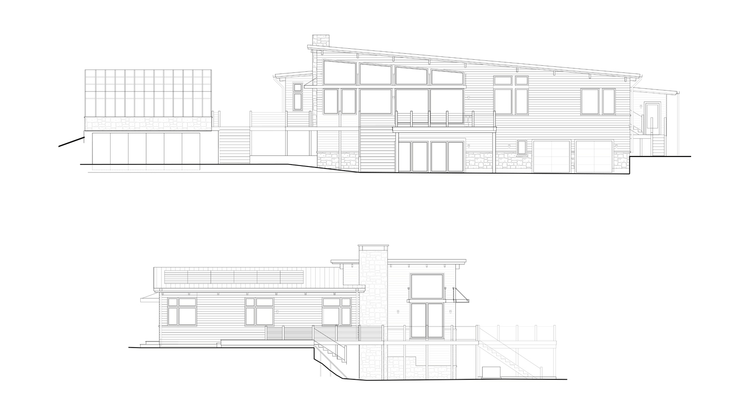 Design Development Phase:  Net Zero Lincoln Exterior Elevations