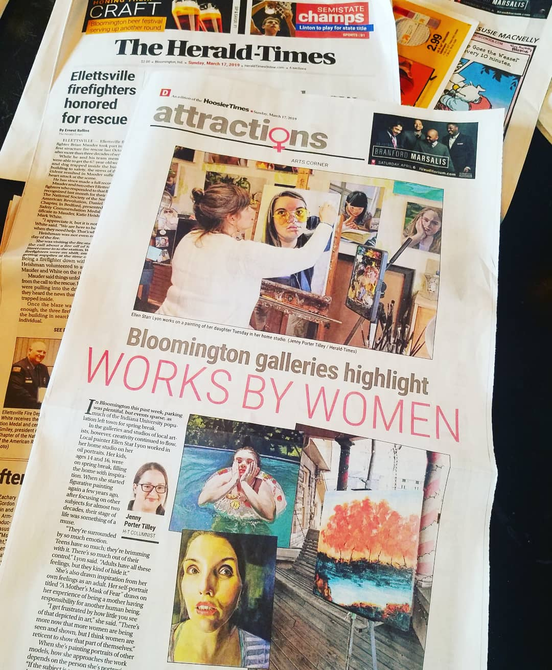 """Works By Women"" interview in the Bloomington Herald Times - by Jenny Porter-Tilley"