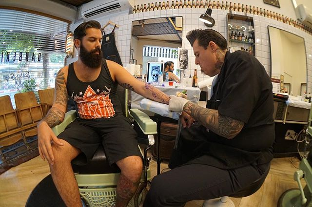 @zivfree getting tattooed by @joecapobiancotattoos at our 2016 event in Tel Aviv 💙 #healingink