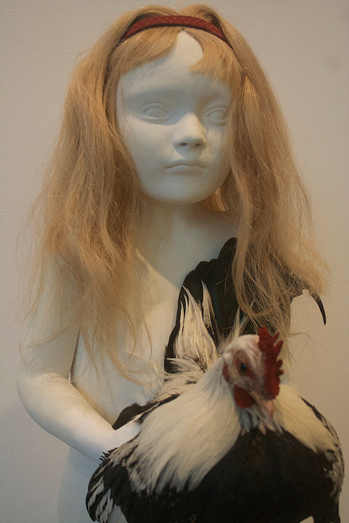 Girl with Banty Rooster(detail)
