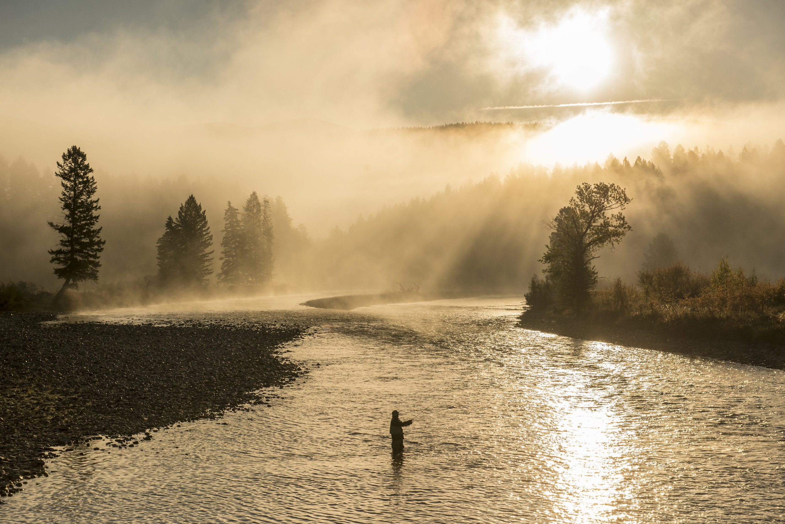 Photographer:  Kari Medig   Location:  Fly Fishing on the Bull River