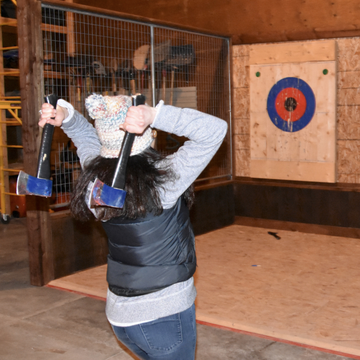 Try your hand at axe throwing!