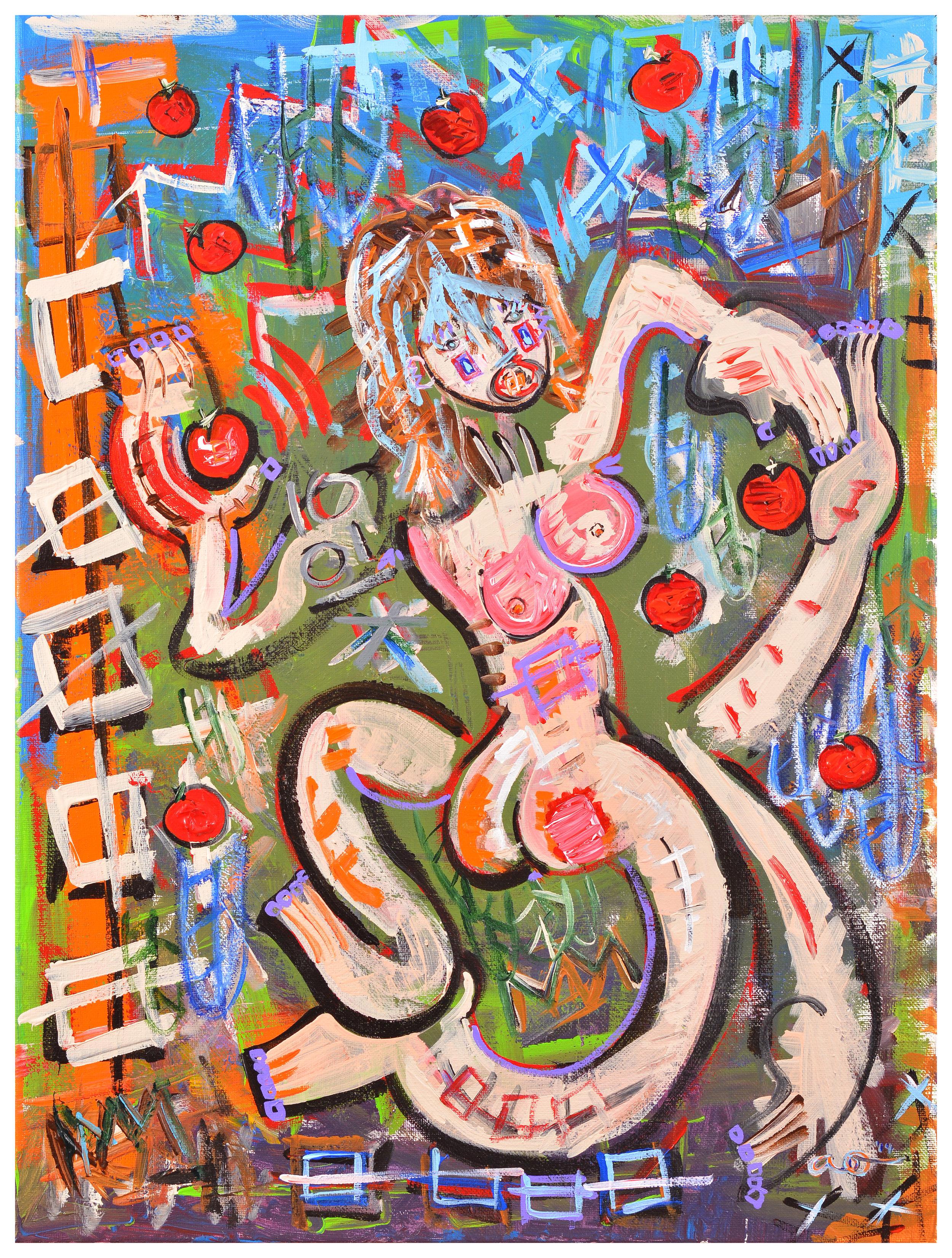 Nude II (Eve in the Garden of Picking Apples)