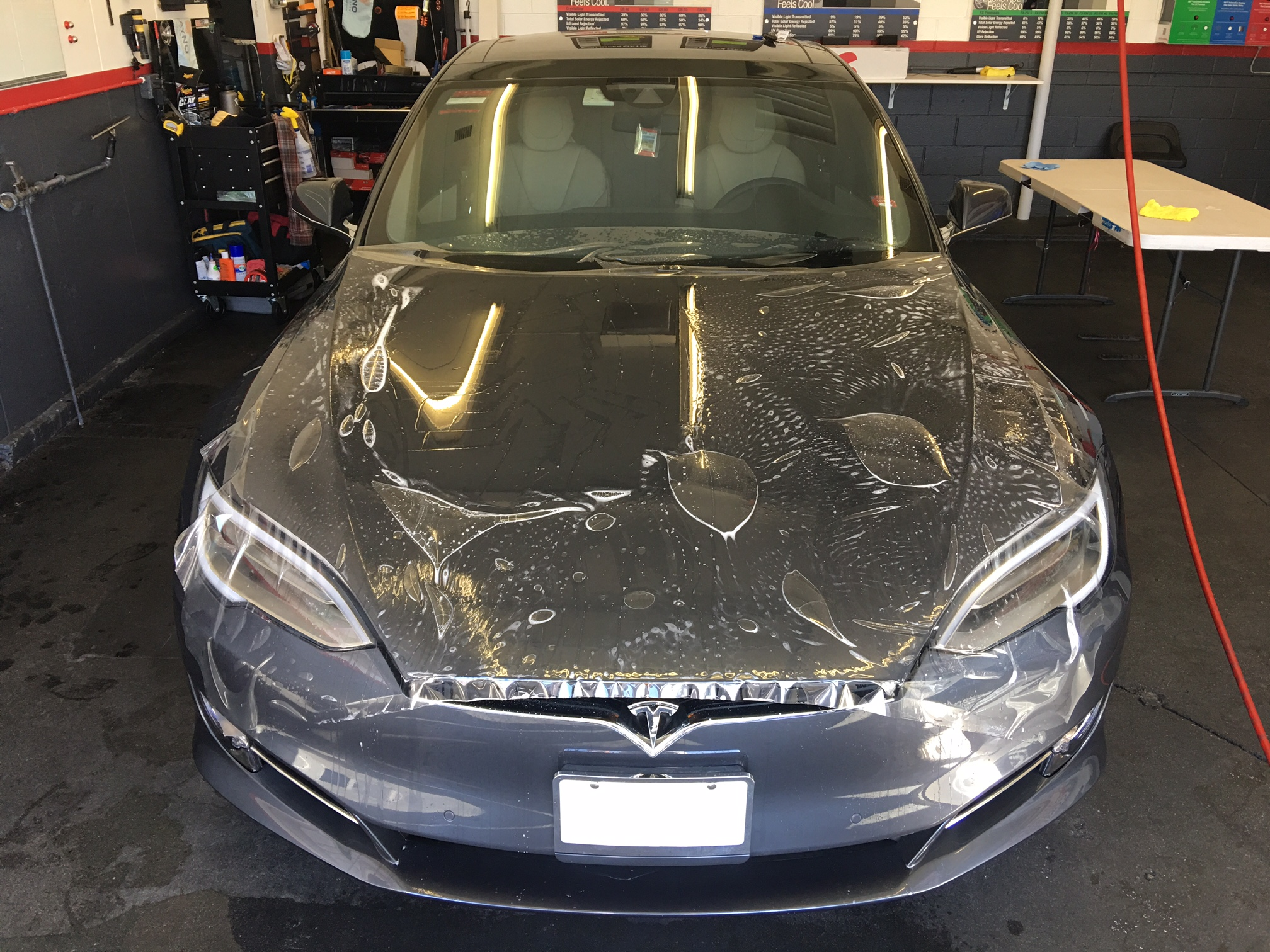 Tesla full body clear bra paint protection