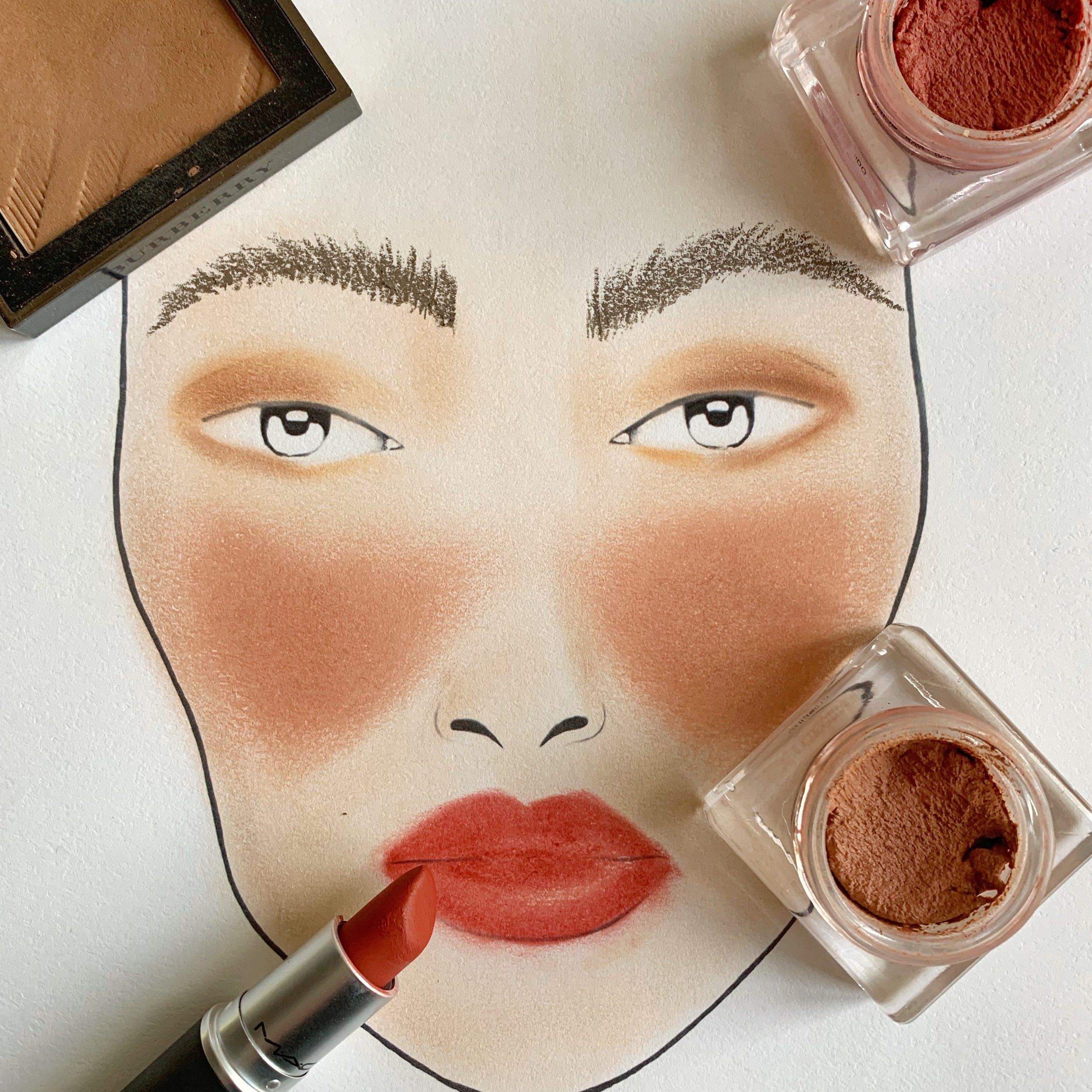 Face Chart Look inspiration