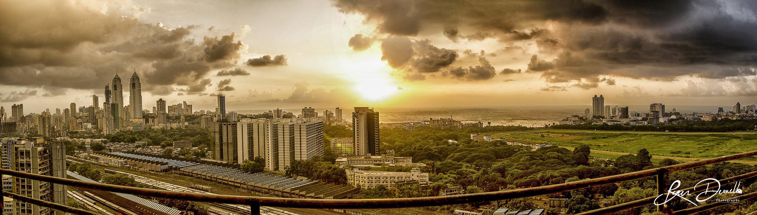 The View From the 38th floor at Mahalaxmi