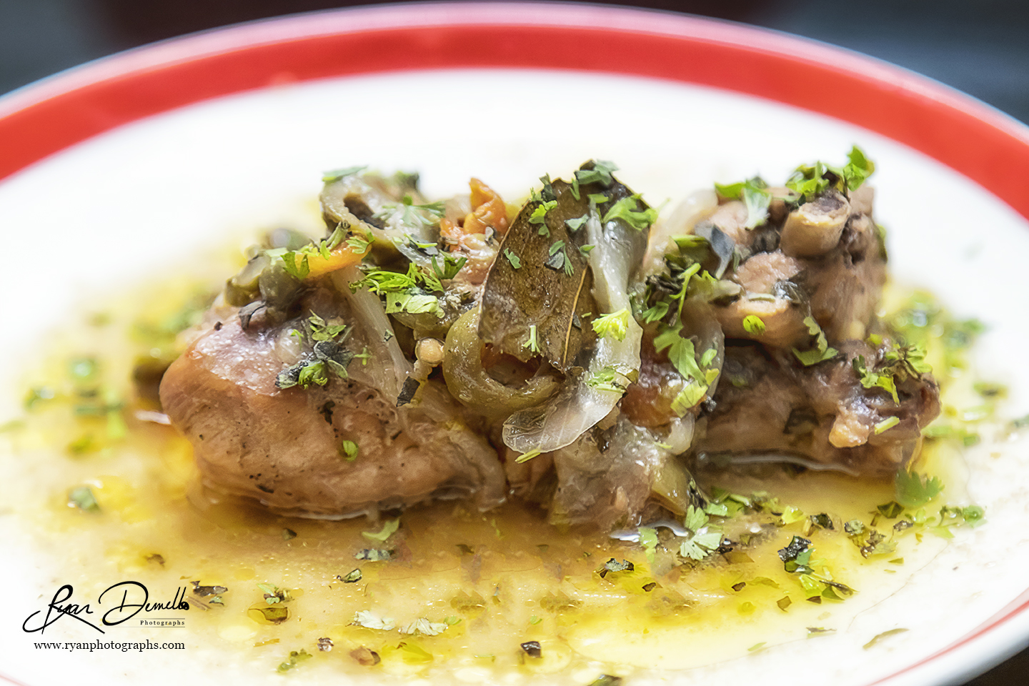 Roast Chicken With Honey, Olives And Capers