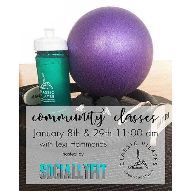 I'm excited to teach two classes next month for @sociallyfitdallas! You can sign up on the @classicpilatesdallas website.