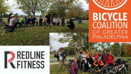RedLine Fitness Teams Up with BCGP - Bicycle coalition of greater Philadelphia joined redline fitness in a team training session to build a stronger and more cohesive organization- and it worked.