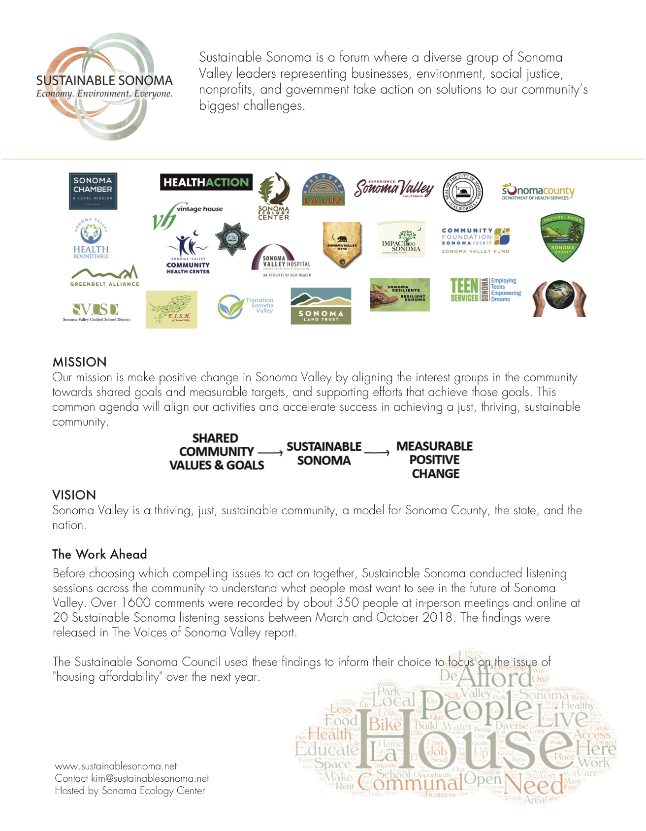 Sustainable Sonoma At A Glance