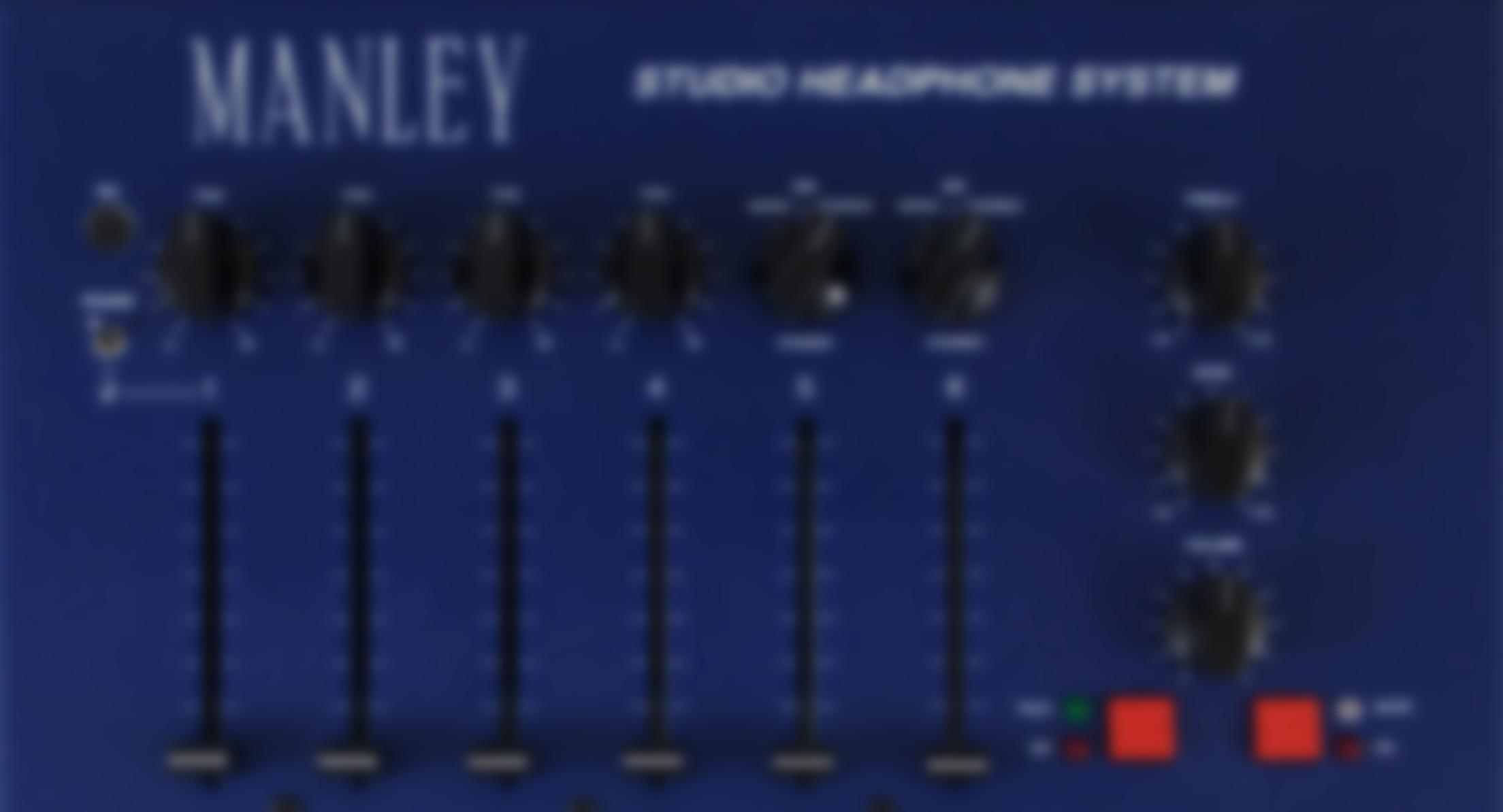 Manley Studio Headphone Mixer - HP-112 — Manley Laboratories