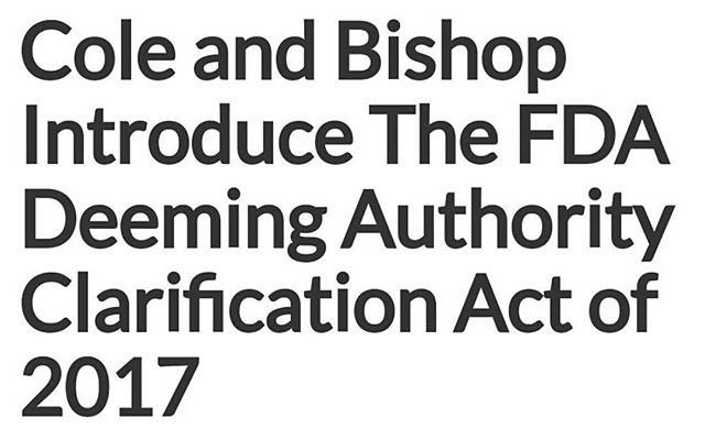 If you haven't heard, The Cole Bishop Amendment has now evolved into the Cole Bishop Bill. This is a great step forward for our industry. Keep up to date at Rep. Coles's website here:  www.cole.house.gov  Support HR 1136  #VapeShopTN #VapeOn #VapeStrong #VapeProud #ItsNotSmokeItsVapor #NotBlowingSmoke #IVapeIVote