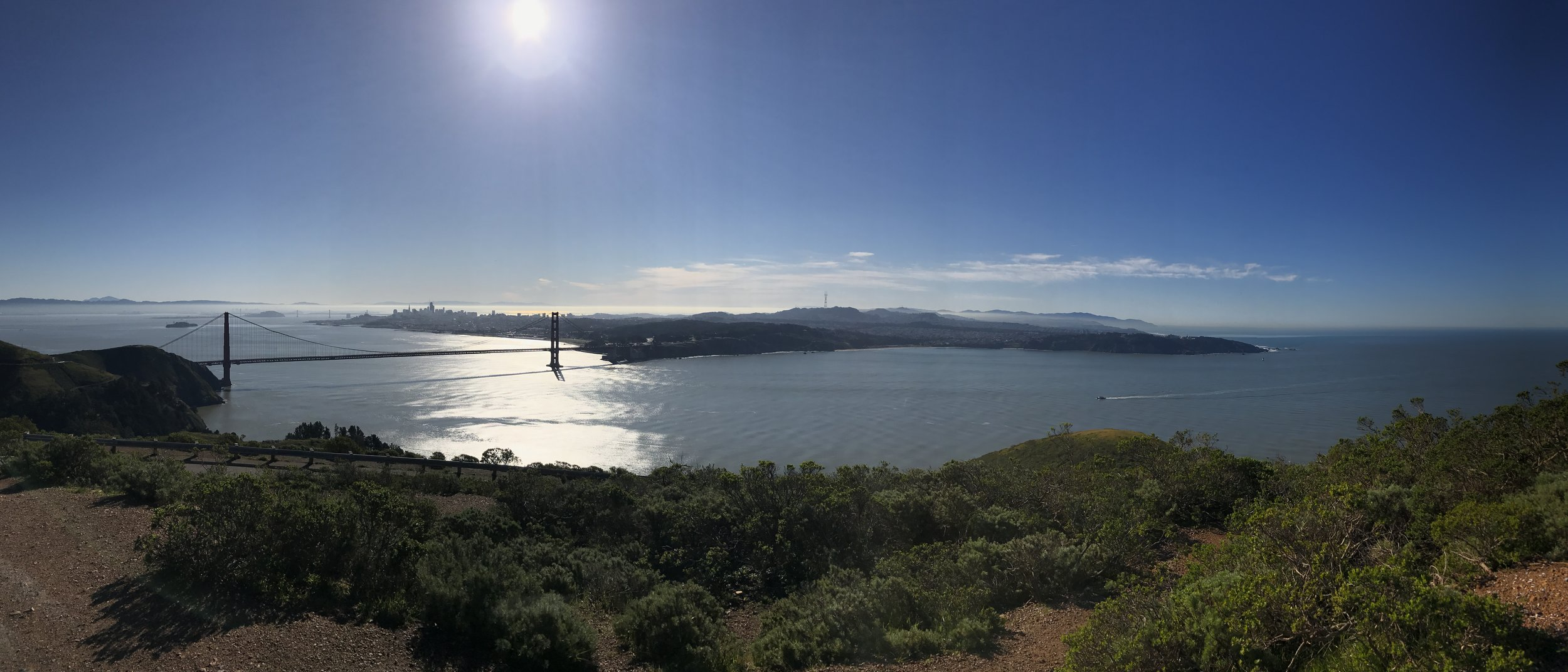 Panoramic View from Hawk Hill in the Marin Headlands
