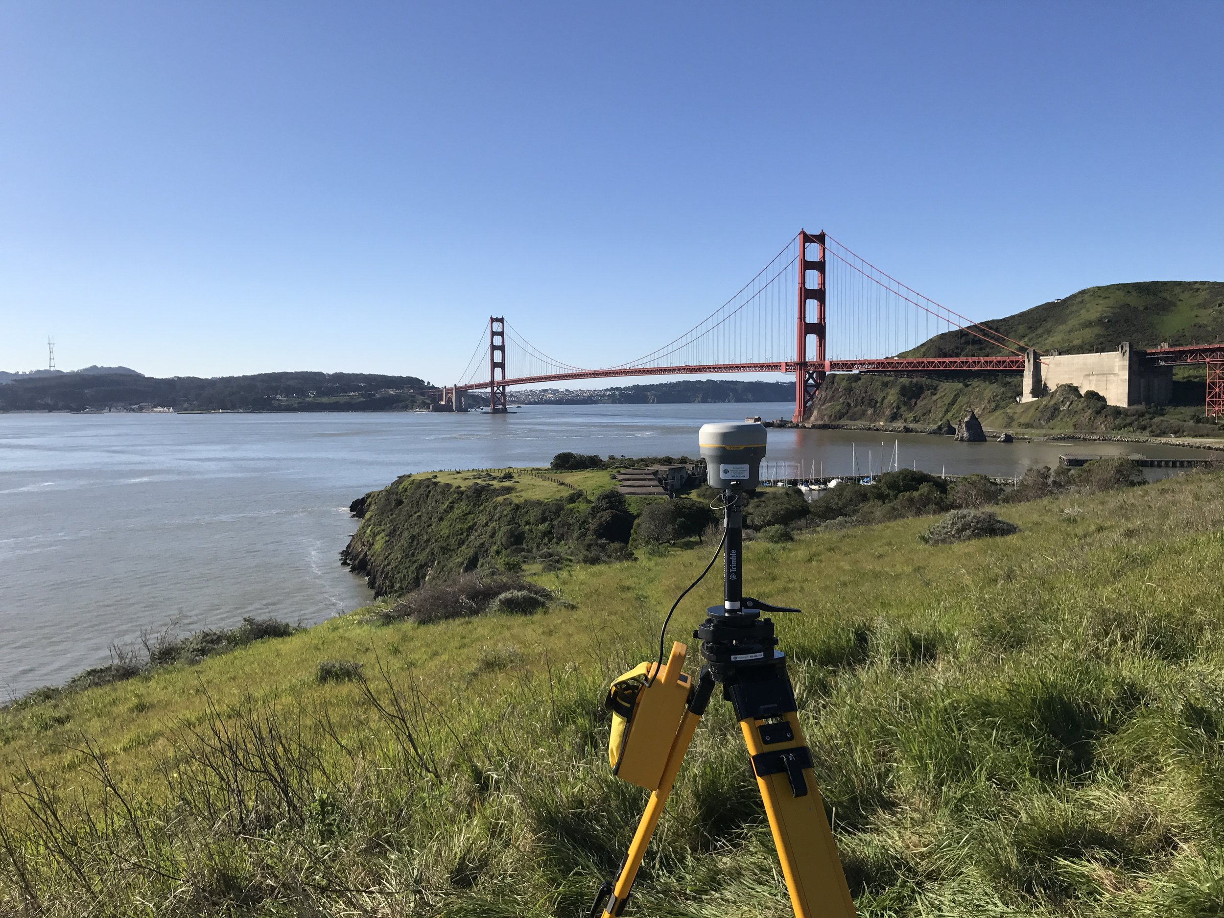 Real Time Kinematics (RTK) receiver at Cavallo Point in Sausalito, Ca
