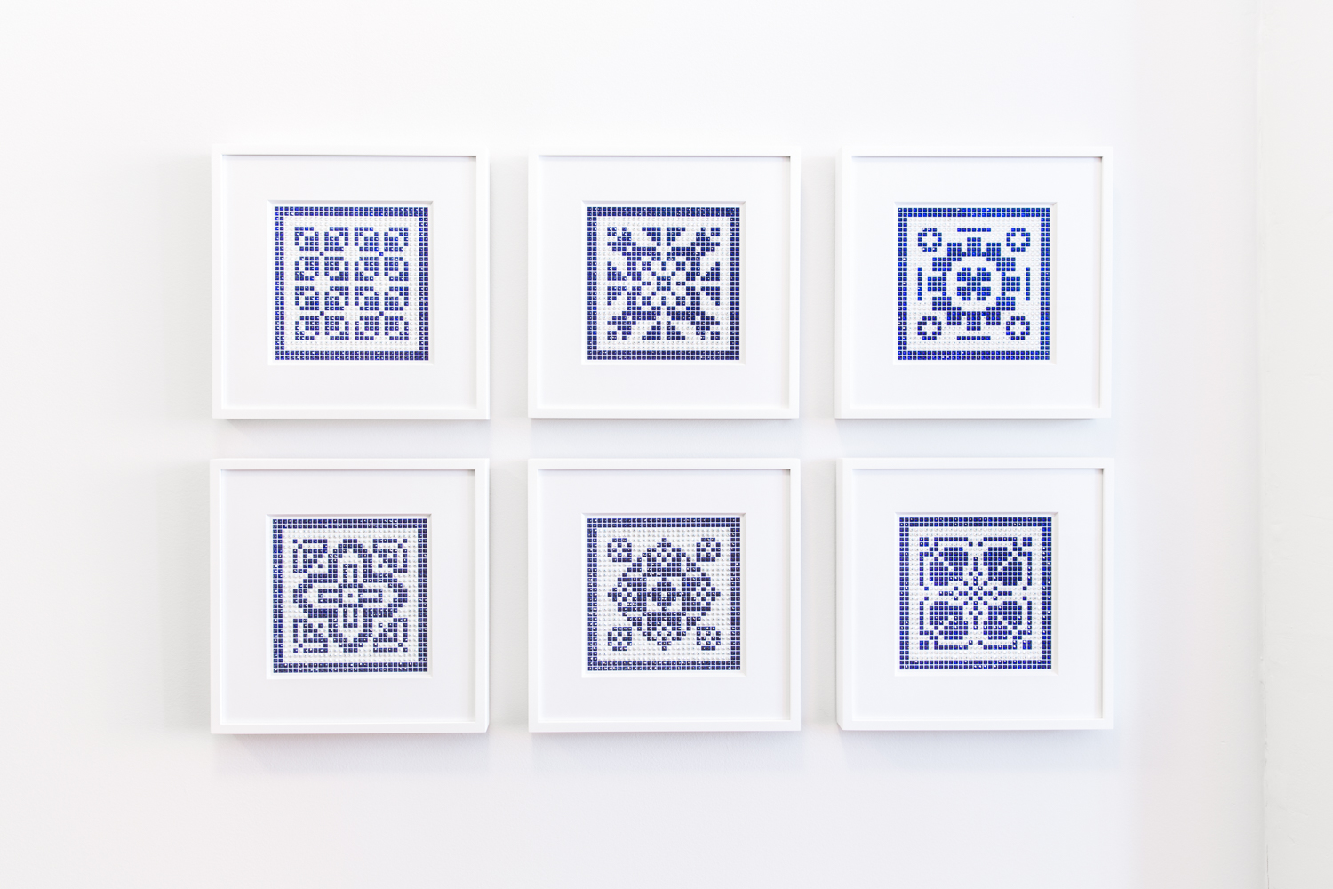 Antique Tiles Small Nos. 1-6 in cobalt and white