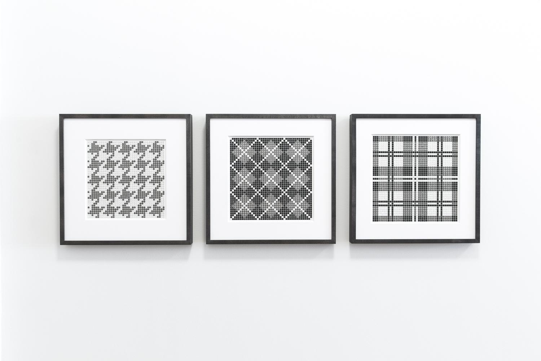Gray Crystiles AKA Textile Designs Installation