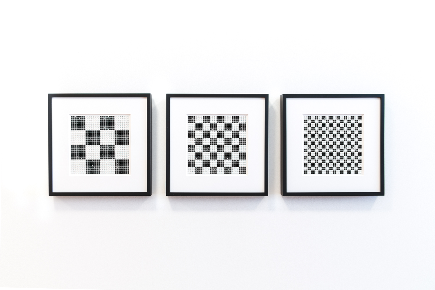 Fractal Checker Installation in black and white