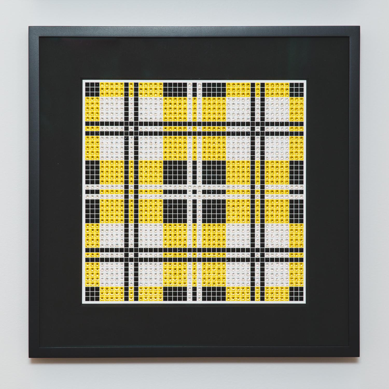 Tartan Yellow with black frame and black mat