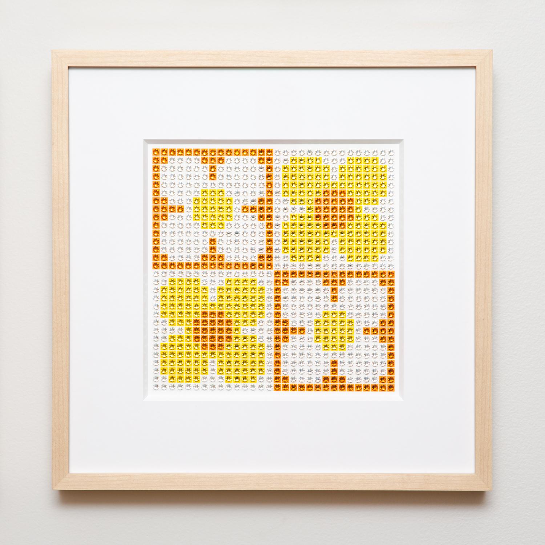 Retro Daisies Small in yellow + orange