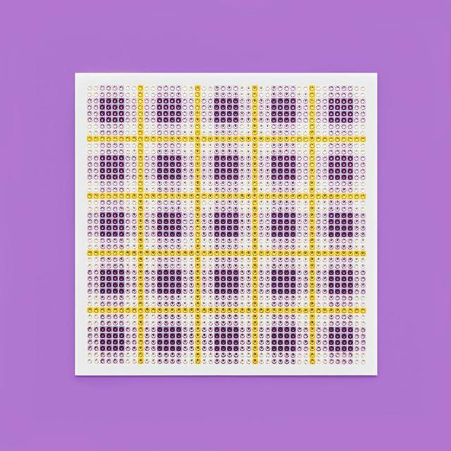 Madras Plaid Amethyst Photo by @goneserious . . . #geometric #geometricart #mixedmediaart #collage #crystalart #crystalcollage #crystalmosaic #Swarovski #Swarovskicrystals #Swarovskiart #Swarovskimosaic #gridart #geometric #geometricart #mixedmediaart #gridart #plaid #textilepattern #madrasplaid #plaidart #PrintedBySkinkInk