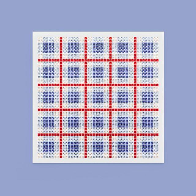 Madras Plaid Blue Photo by @goneserious . . . #geometric #geometricart #mixedmediaart #collage #crystalart #crystalcollage #crystalmosaic #Swarovski #Swarovskicrystals #Swarovskiart #Swarovskimosaic #gridart #geometric #geometricart #mixedmediaart #gridart #plaid #textilepattern #madrasplaid #plaidart #PrintedBySkinkInk