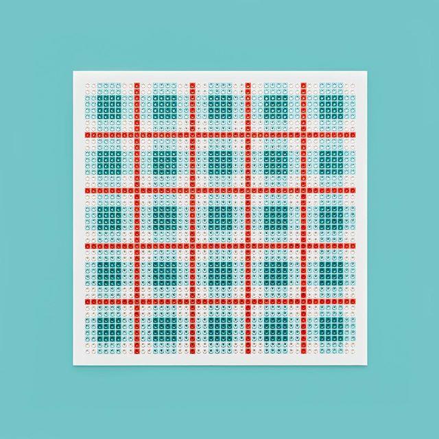 Madras Plaid Teal Photo by @goneserious . . . #geometric #geometricart #mixedmediaart #collage #crystalart #crystalcollage #crystalmosaic #Swarovski #Swarovskicrystals #Swarovskiart #Swarovskimosaic #gridart #geometric #geometricart #mixedmediaart #gridart #plaid #textilepattern #madrasplaid #plaidart #PrintedBySkinkInk