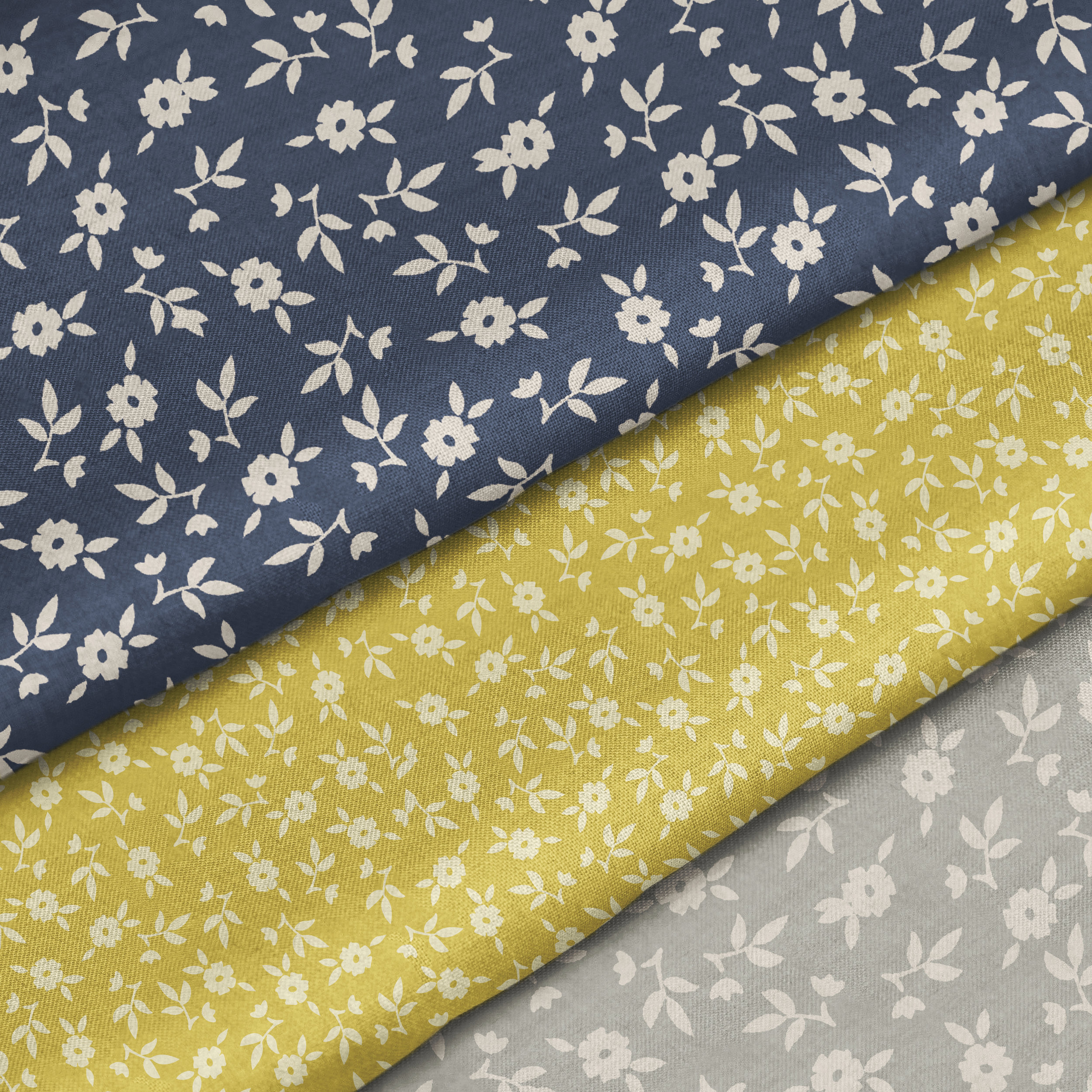 COUNTRY FLOWERS FABRIC SAMPLES