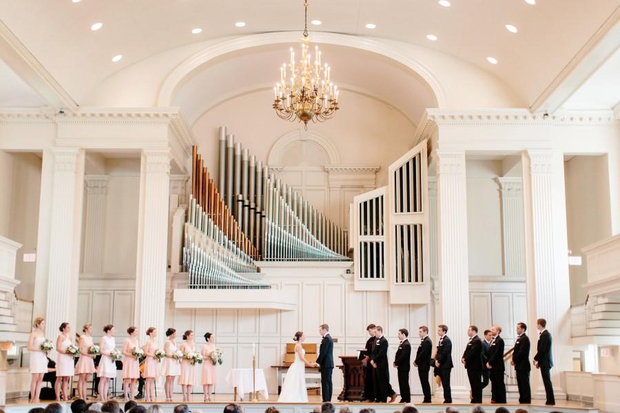 Colgate Memorial Chapel ceremony at Colgate University in Hamilton, NY