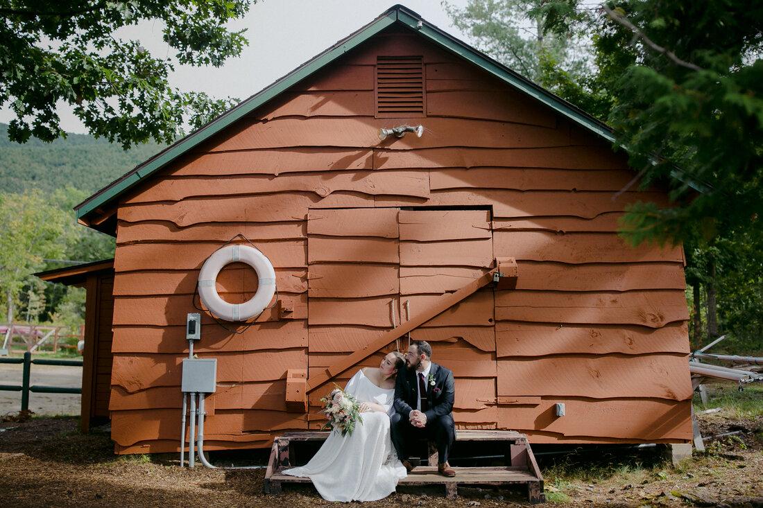 Camp Chingachgook wedding Janine and Dean 1