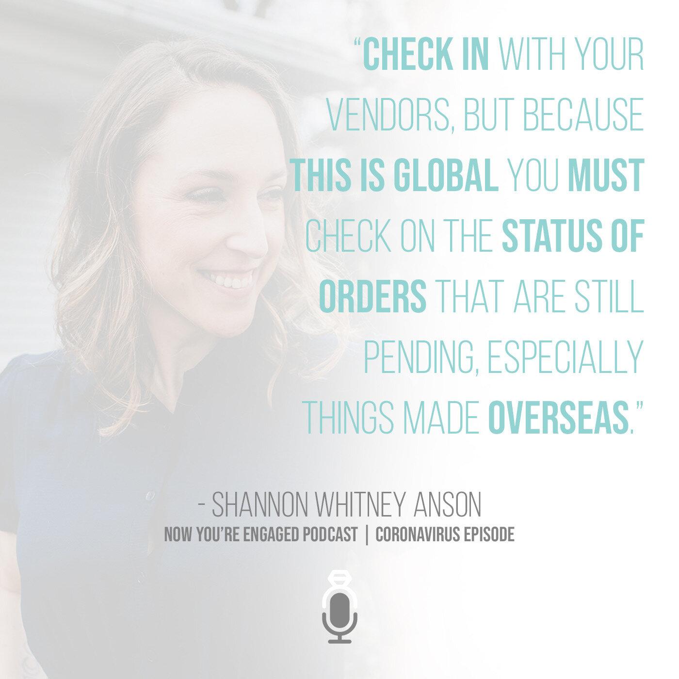 Shannon Whitney Anson wedding planning guide for coronavirus