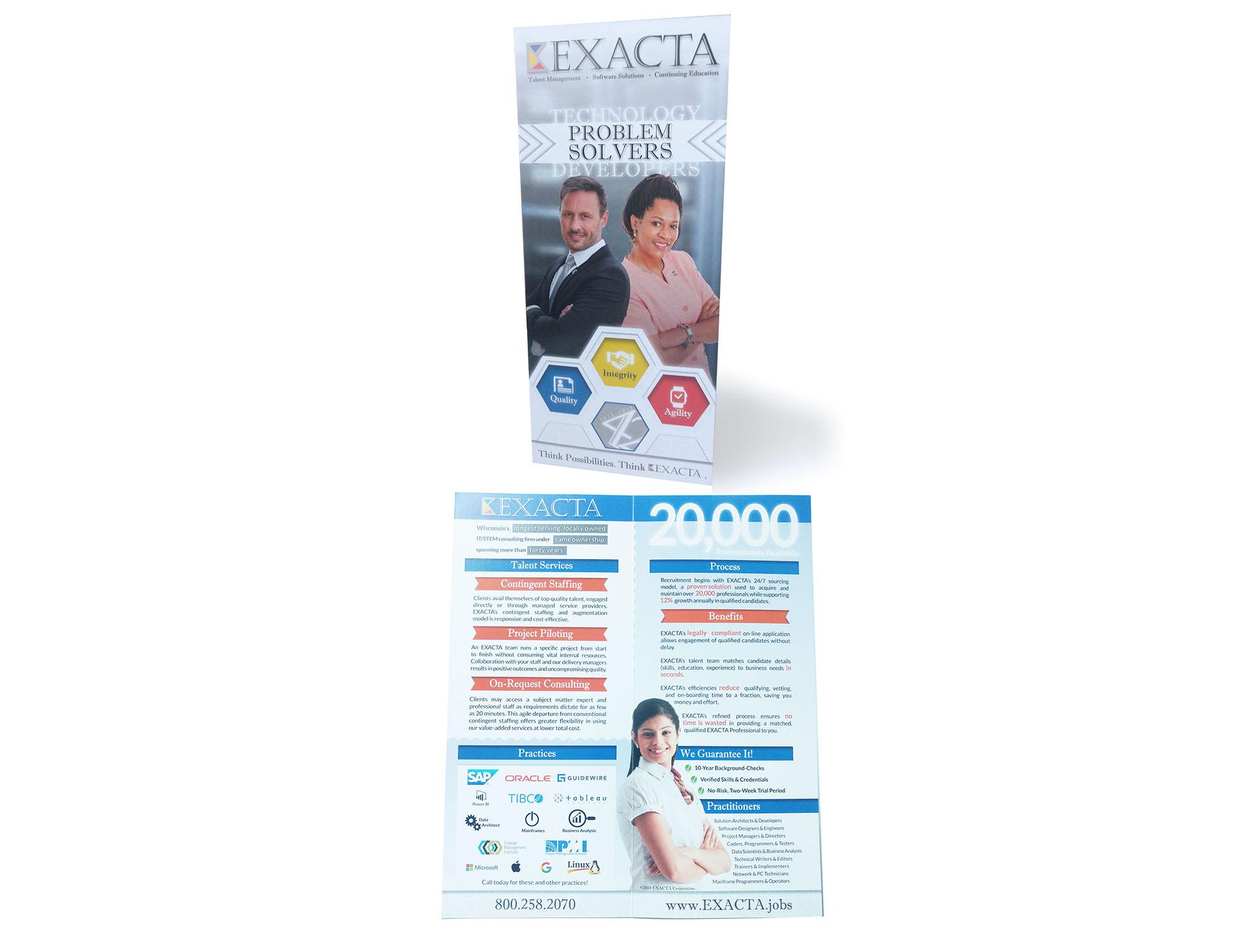 Talent brochure for EXACTA Corporation