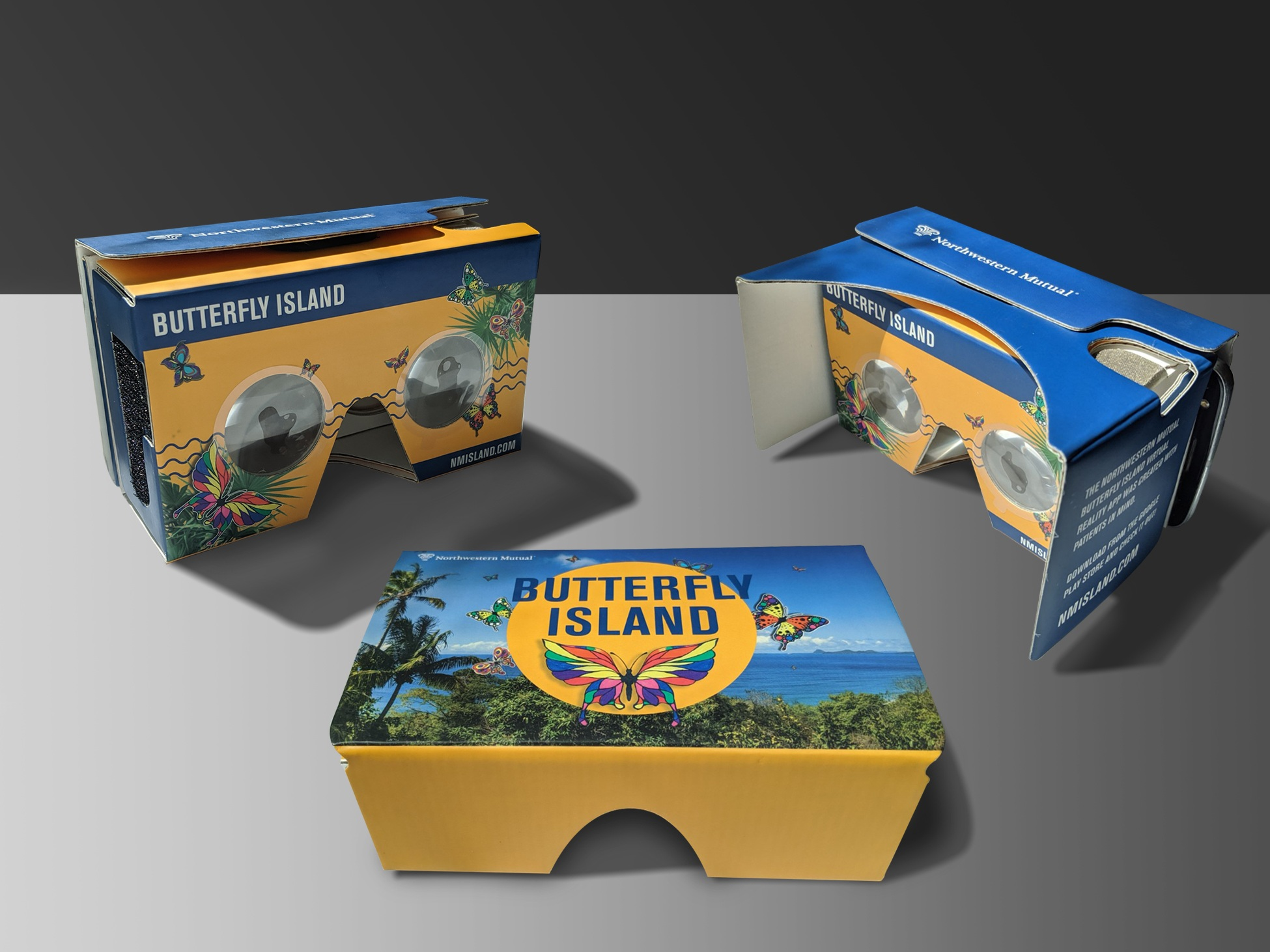 3-D viewer for the Butterfly Island app developed for the Northwestern Mutual Foundation