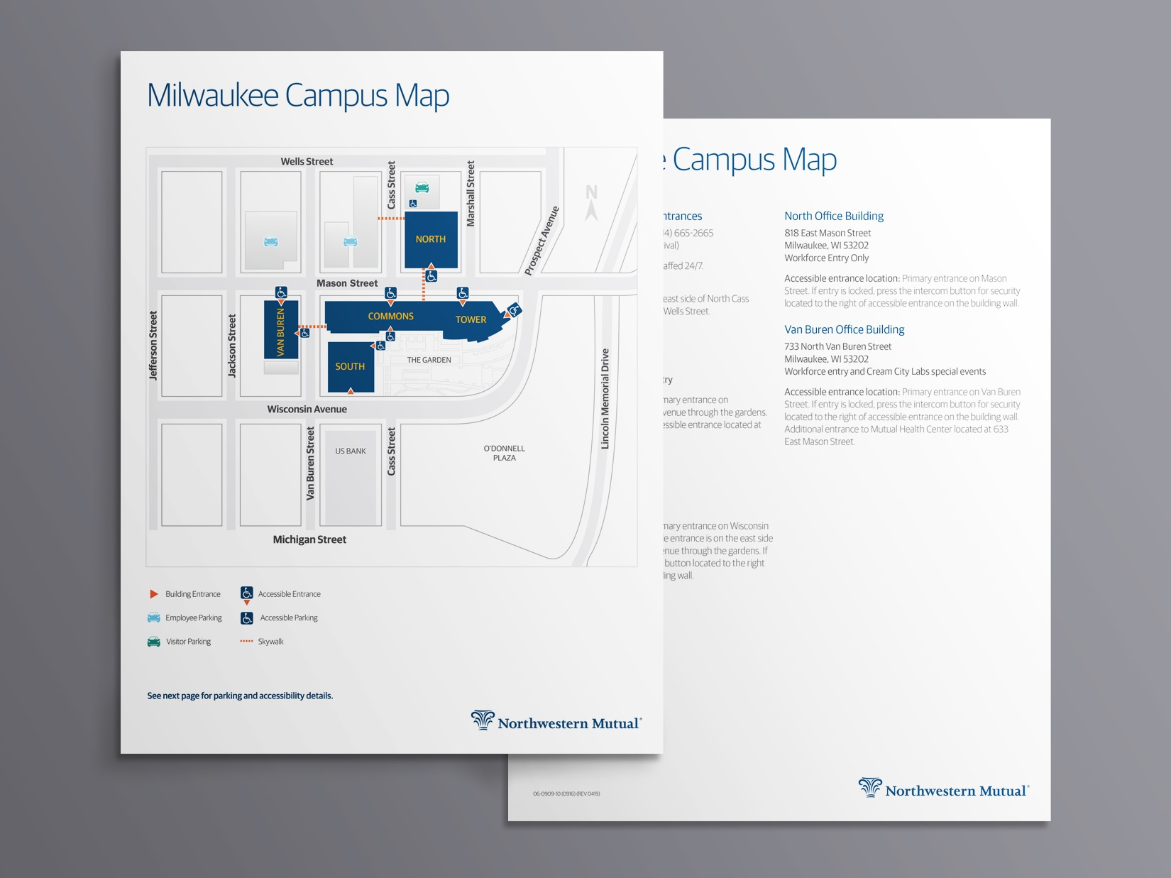 Printed and interactive campus map. Designed with text to speech for visually impaired viewers
