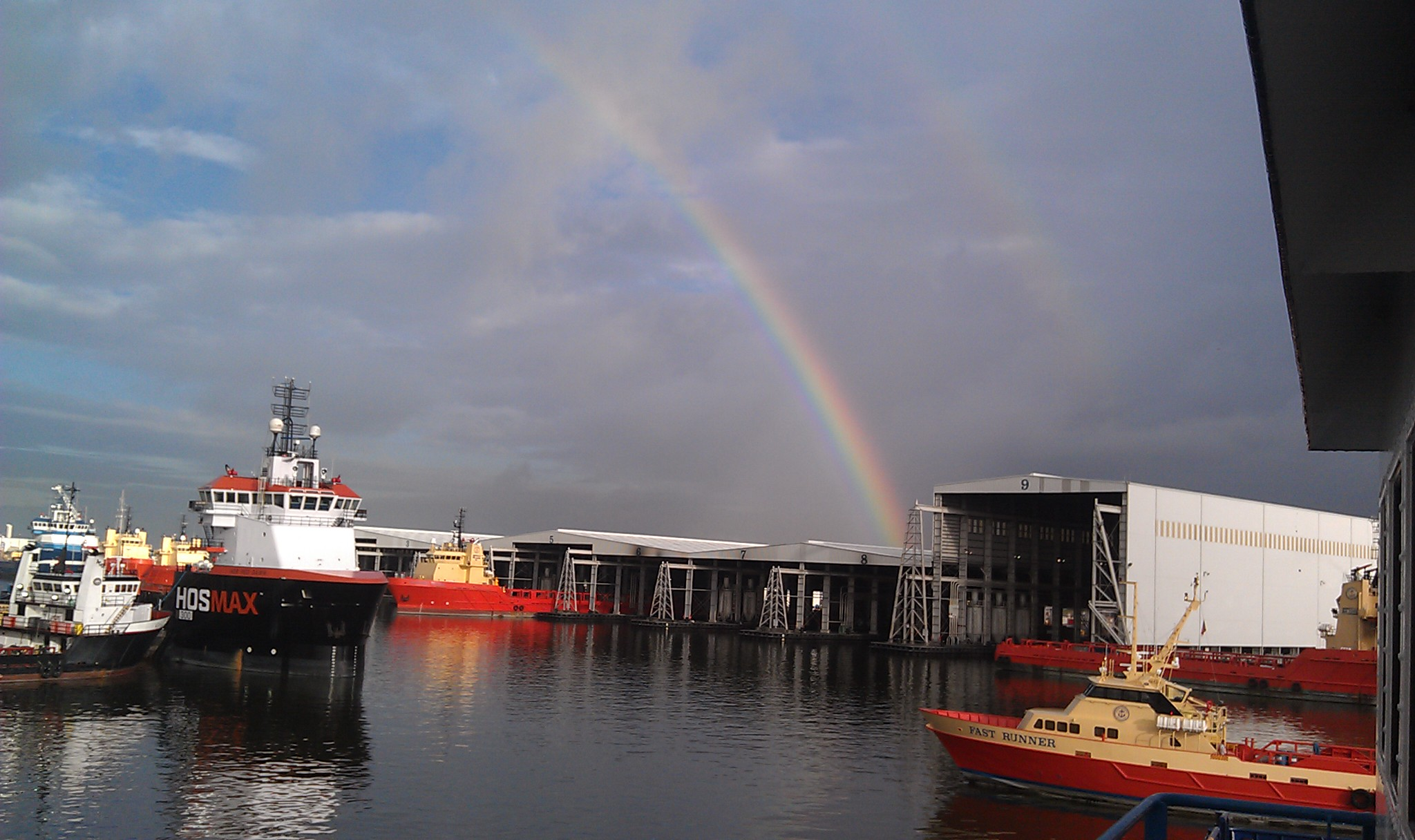 Rainbow in Port Fourchon