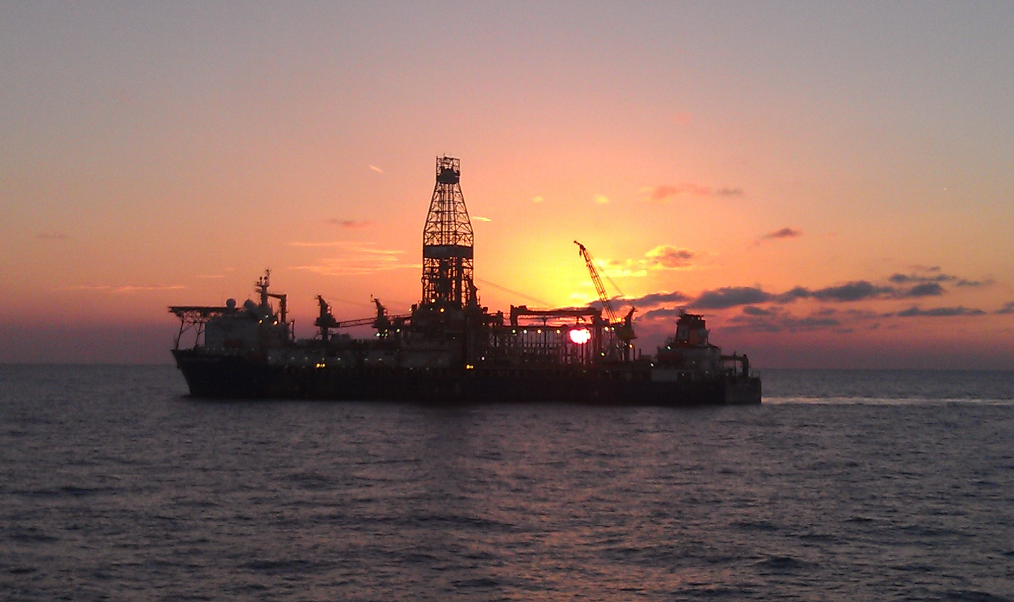 Sunset in the oil patch