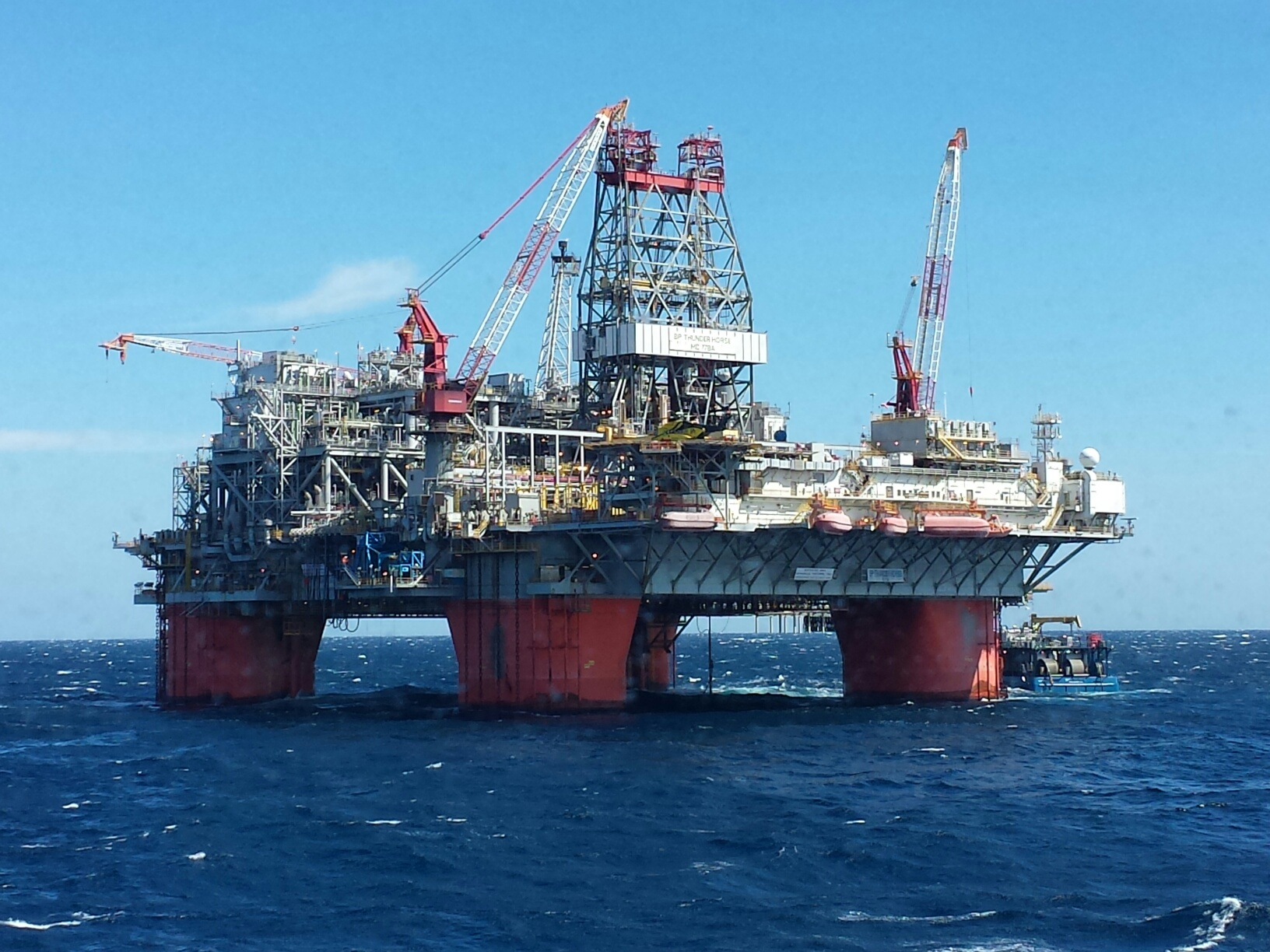Thunder Horse, largest floating platform in the Gulf of Mexico