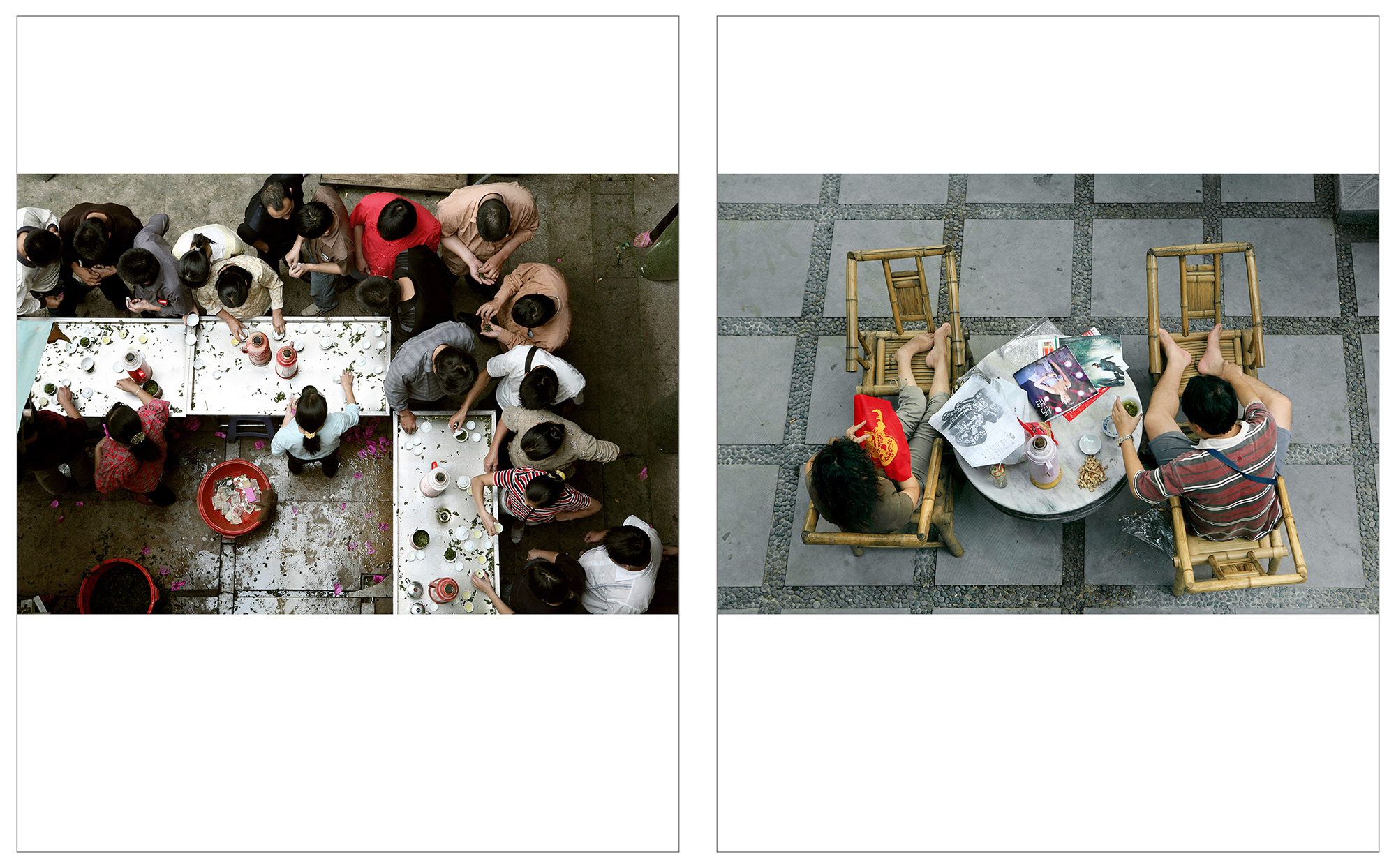 Tea Market - Anxi, Fujian Province    info •  Renmin Gongyuan Teahouse - Chengdu, Sichuan Province  info