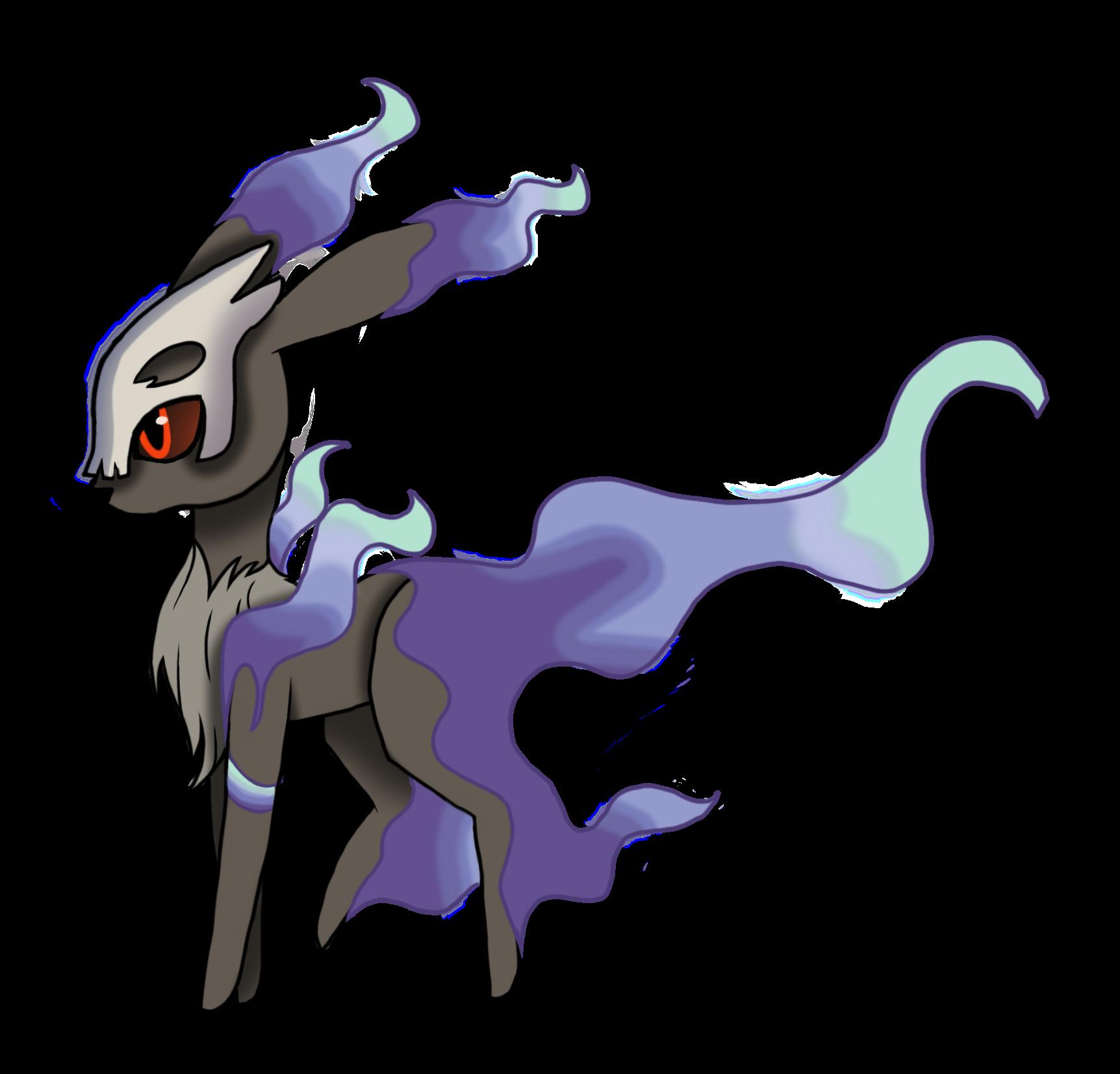 yokarimon ghost type eevee evolution, by madison hood