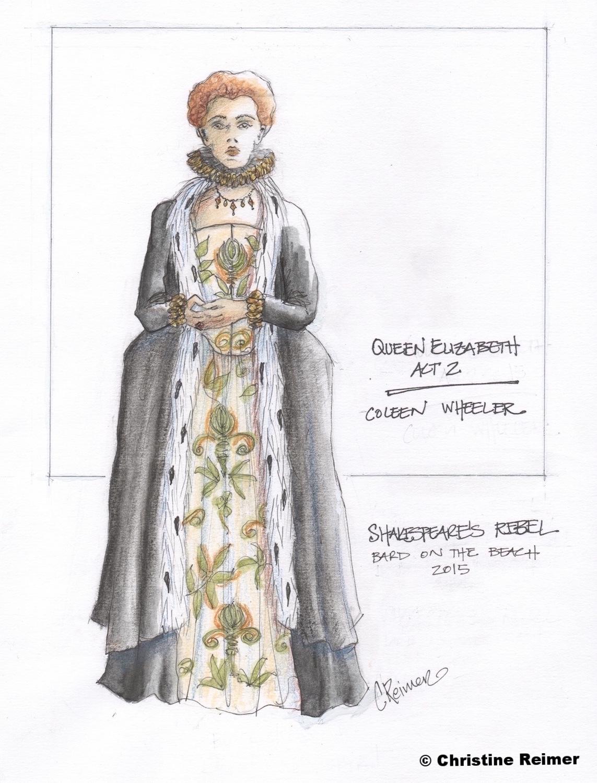 """""""Queen Elizabeth""""  Shakespeare's Rebel, 2015"""