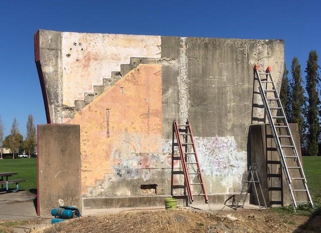 Rear View Under Restoration Fall of 2018