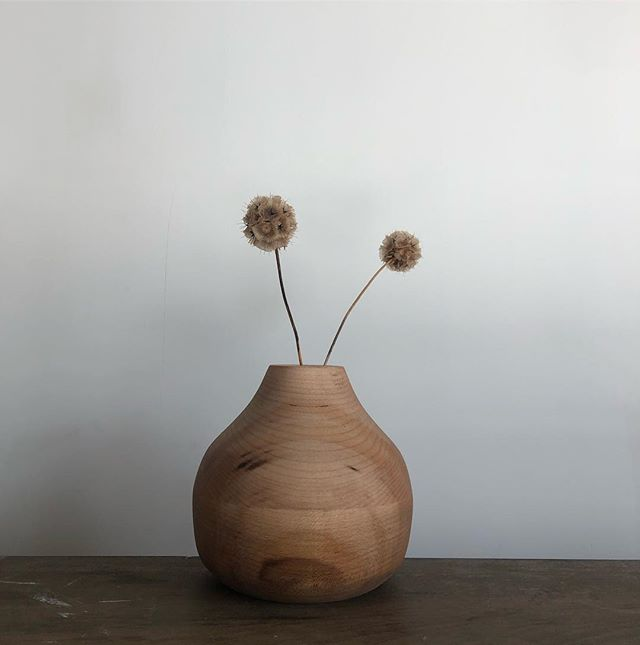 Spring is here. Anyone else antsy for warm weather? 🙋‍♂️ . . . . #woodworking #maple #wood #wooddesign #minimalism #nycdesigner #turning #woodturning #lathe #maker #brooklyn #local #localmade #madelocal #brooklynmade #diy #oak #bowlturning #lathe #hollowform #vase #woodvase #wooddecor #decor #woodobject