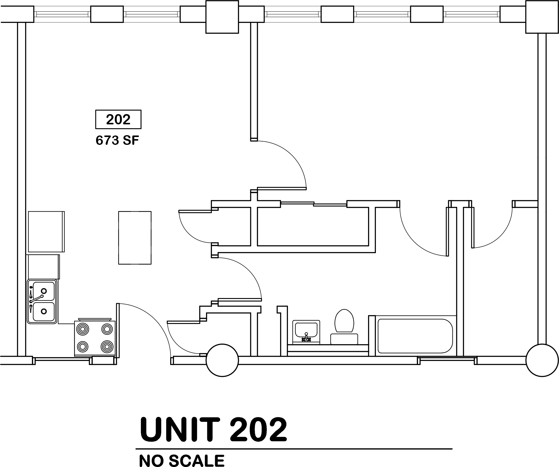 1 bed / 1 bath   $825 / 673 sq ft