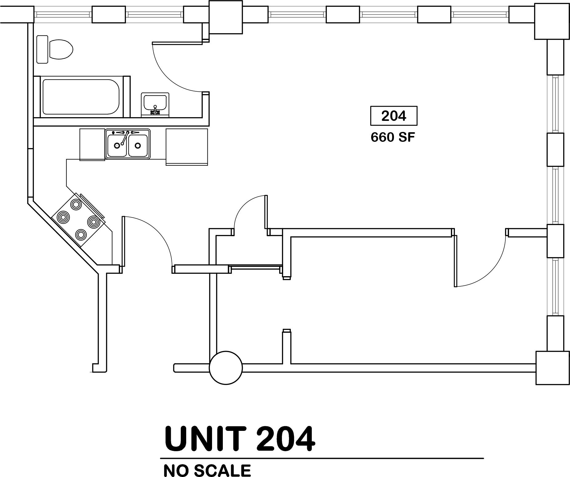1 bed / 1 bath   $700 / 680 sq ft