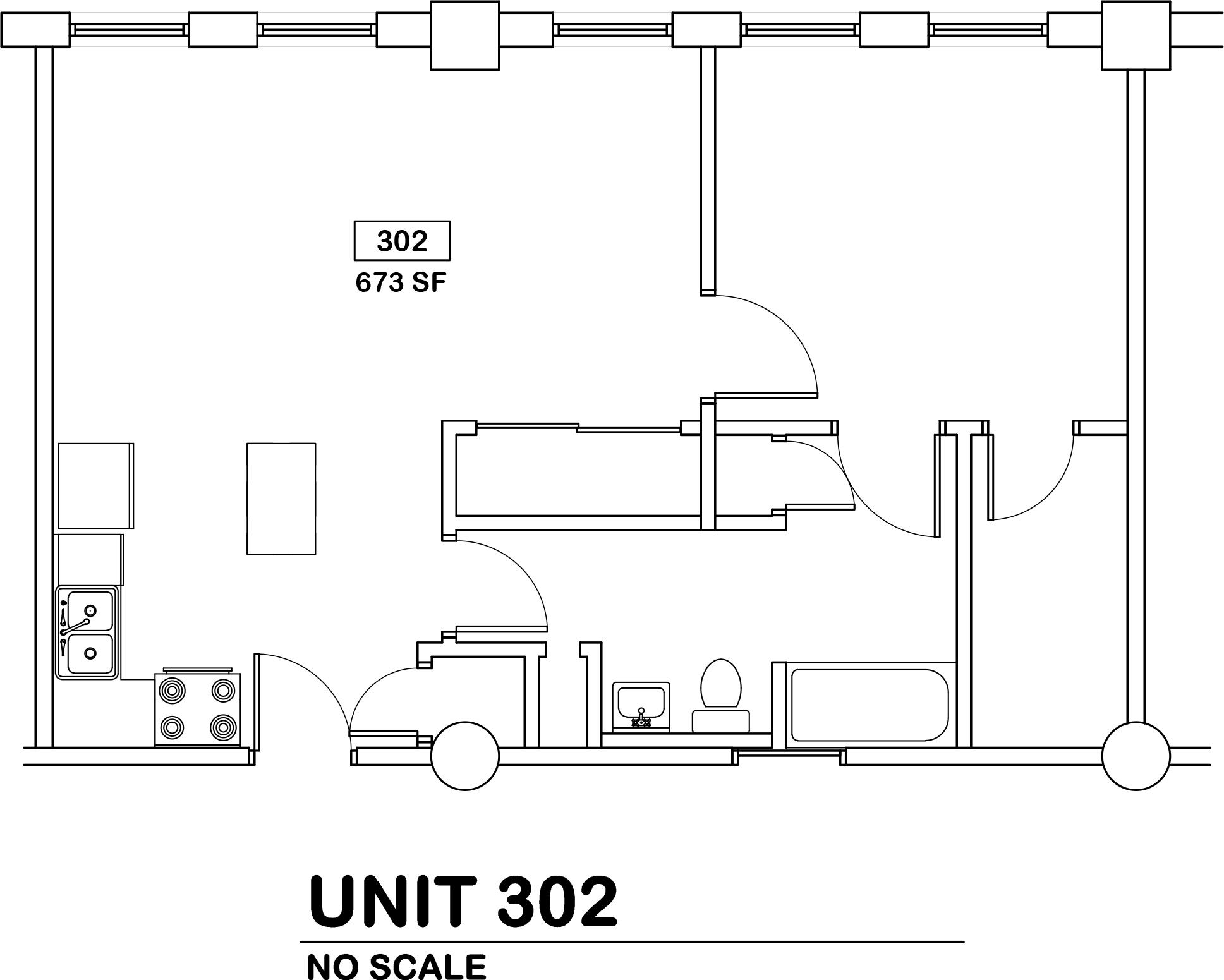 1 bed / 1 bath   $725 / 673 sq ft