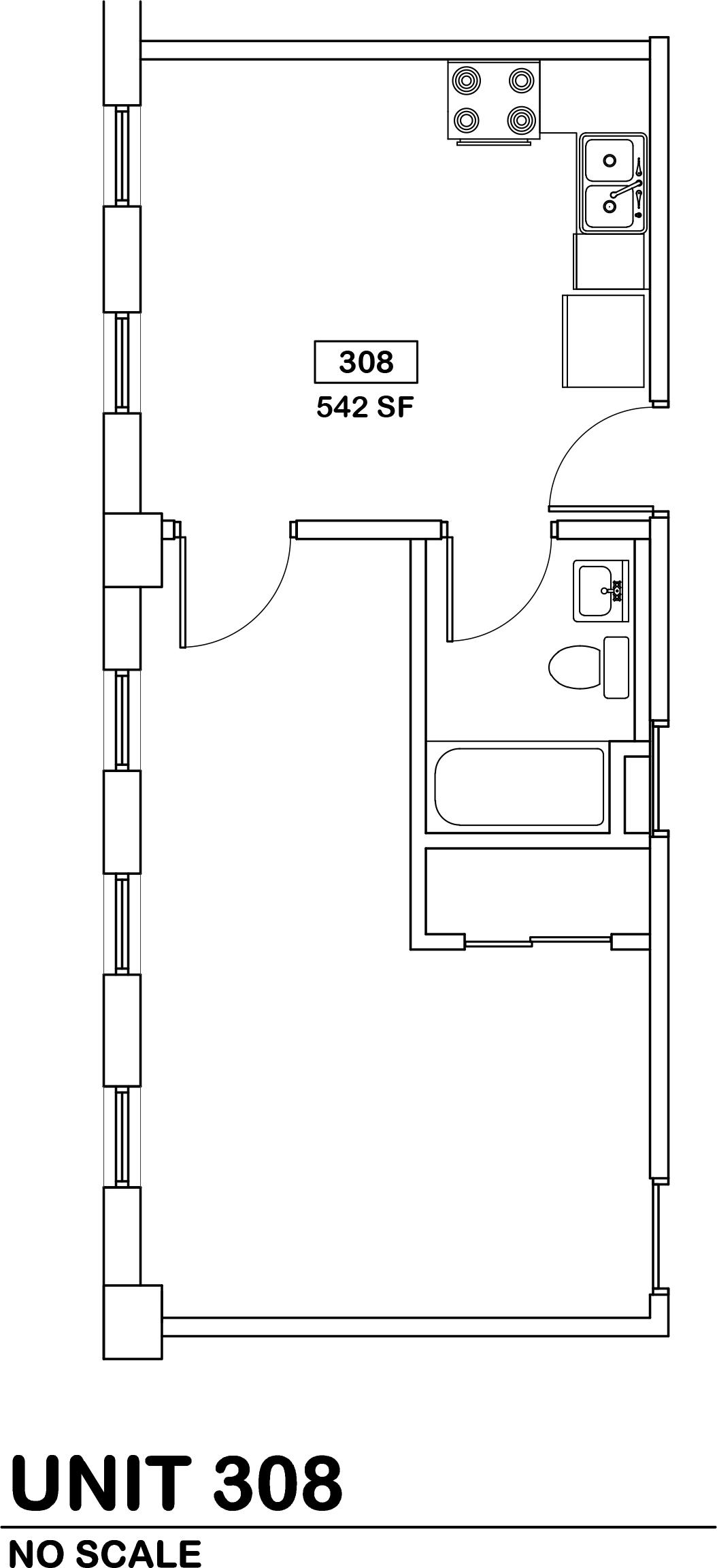 studio  $610 / 542 sq ft