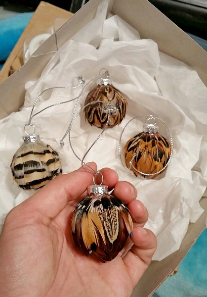 A set of miniature ornaments I created that took lots of love, time, and care.