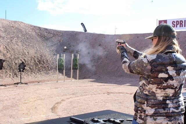 Jessica shooting one of the new 1911's
