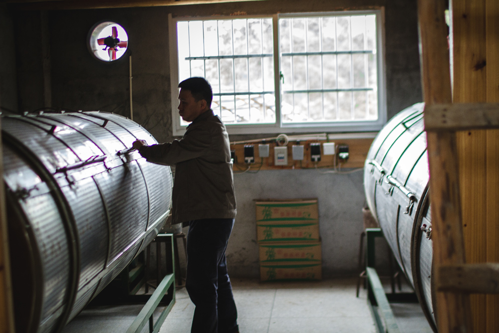 Master Xu at his factory and warehouse in Wuyi Mountain taken from our tour.