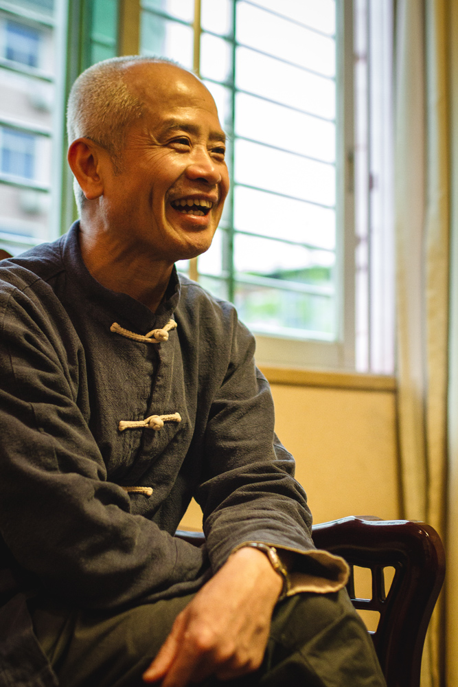 Our dear friend and partner, Dr. Ming Wu, sitting in downtown Wuyishan at Tea Master Xu's Tea House where we were invited guests.