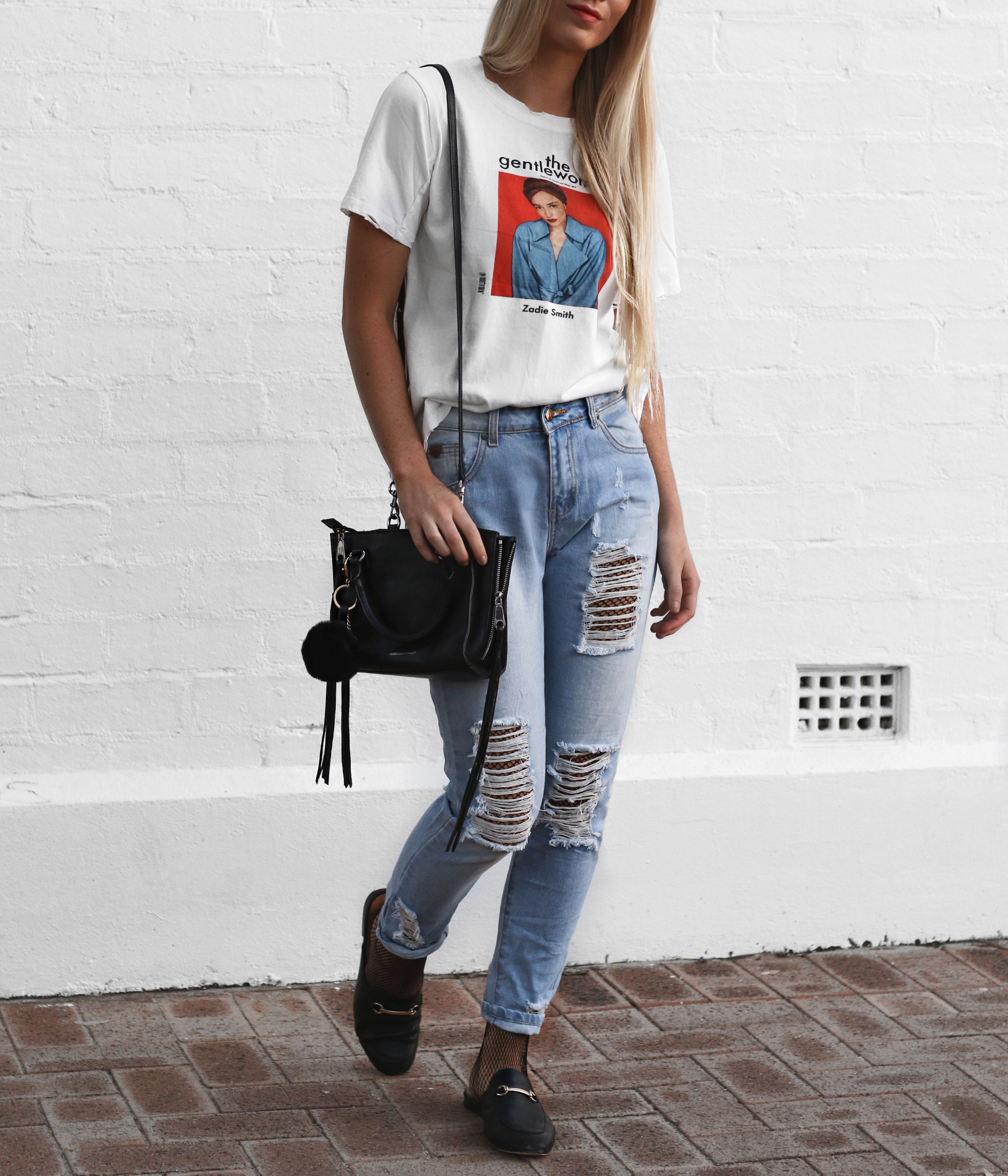 Fishnet and Jeans Style